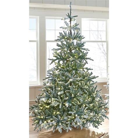 martha stewart living 9 ft indoor pre lit glittery bristle pine artificial christmas tree martha stewart living 7 5 ft indoor pre lit snowy spruce artificial tree