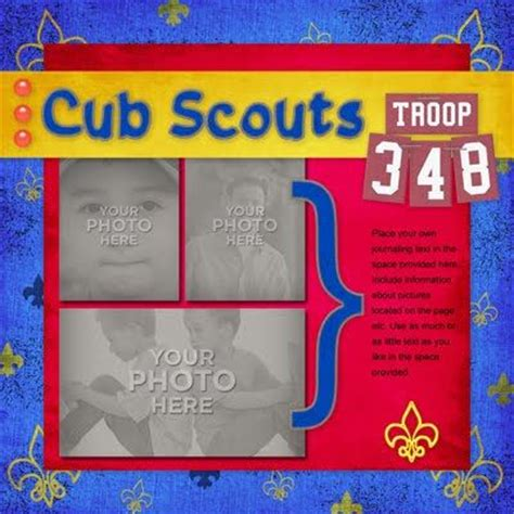Bsa Blue Card Template by Boy Scouts Scrapbook Page Layouts And Scrapbook Pages On