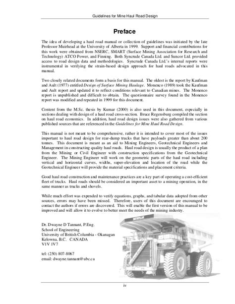 mine design guidelines qld 25947612 haul road design guidelines 11672