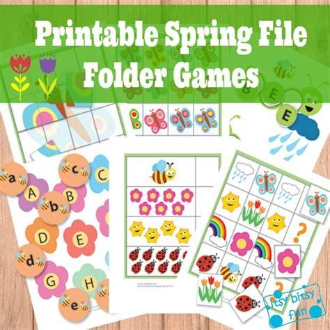 printable file folder games for kindergarten spring file folder games free itsy bitsy fun