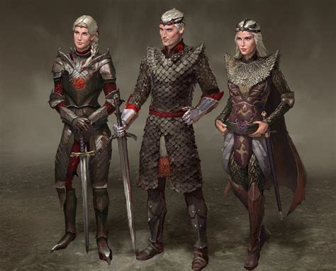 design game of thrones visenya aegon rhaenys targaryen by andrewryanart