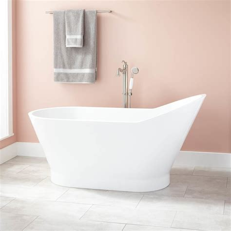 modern freestanding bathtubs lynette acrylic freestanding tub modern bathtubs by