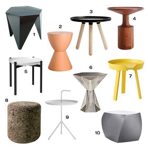 designer table roundup 10 modern side tables design milk