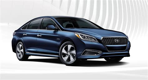 exterior photo of sleek blue hyundai sonata hybrid 2017