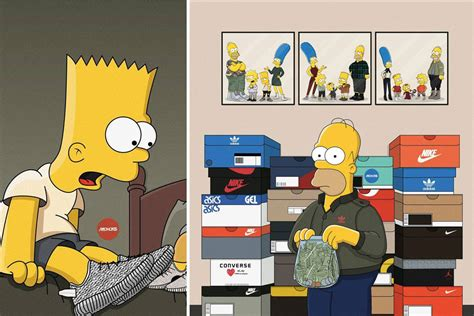 Bantal Hypebeast Sneaker Fans Supreme Gucci quot the simpsons quot imagined as sneakerheads ballerstatus