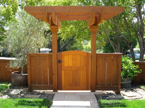 Wood Garden Arbor Gates Garden Gate With Arbor Traditional Landscape Orange