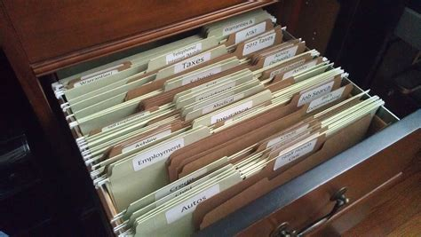 Organizing My File Drawer The Innovative Homemaker How To Make A File Cabinet Drawer