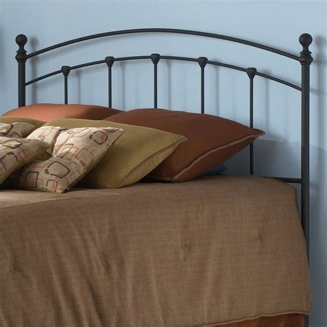 King Headboard by Fashion Bed Sanford Metal King Matte Black Finish Headboard