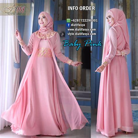 Maxi Dress Pesta Bahan Ceruty Import Warna Toska Cantik Mewah dress gaun pesta muslimah model raesha by fitria style brand