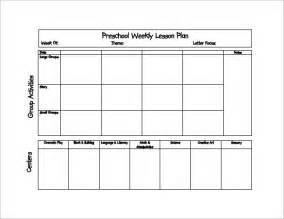 Preschool Lesson Plan Template by Lesson Plan Template For Preschool Best Template Idea