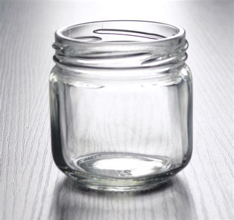 wholesale small cheap dell clear glass canning jar for jam food view glass canning jar