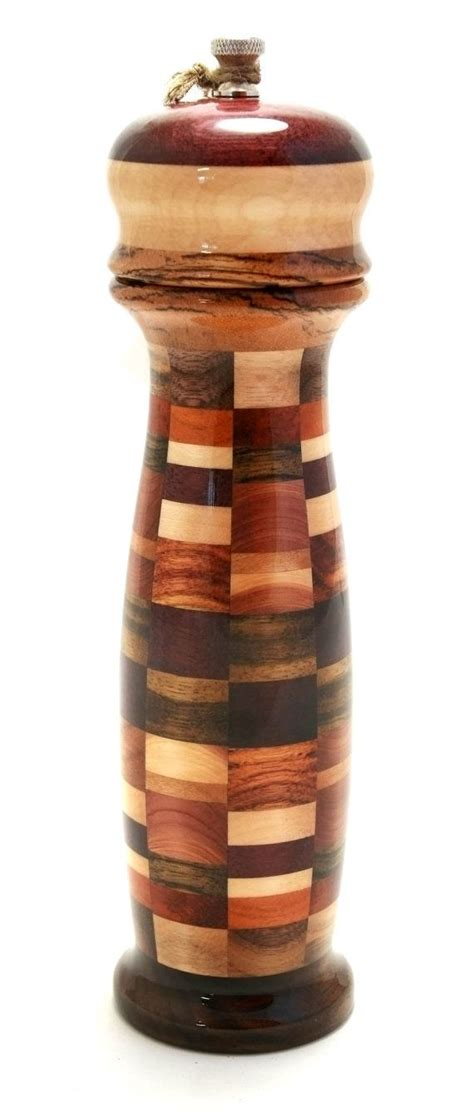 Handcrafted Pepper Mill - wood pepper mill or salt grinder handcrafted modern by