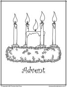 free coloring pages of advent wreath candles