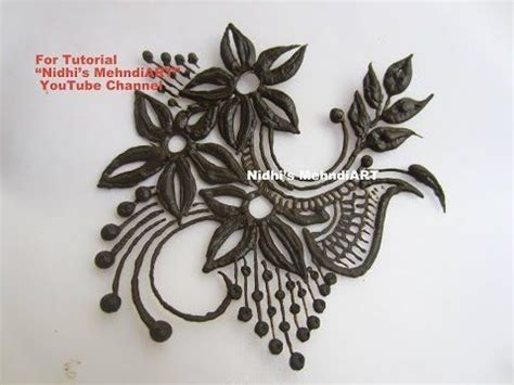 youtube henna tattoos beautiful flowery henna mehndi design patch