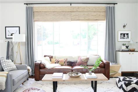 decorating   brown sofa