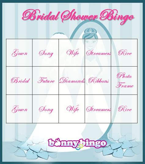 bridal shower bingo template free bingo get 30 free to play bingo at