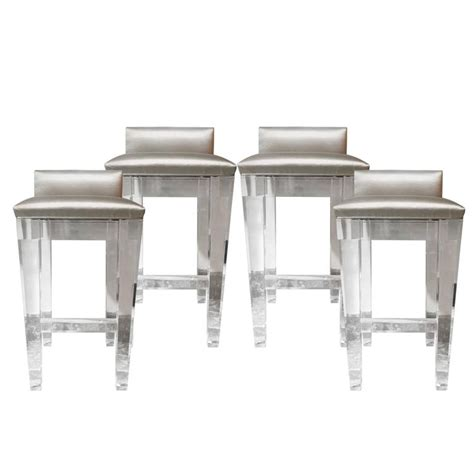 lucite counter height bar stools lucite bar stools set of four with silk