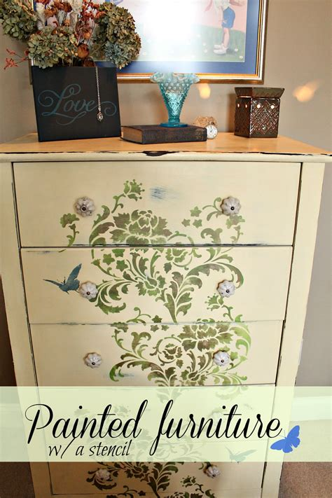 Furniture Stencil by How To Stencil On Furniture Debbiedoo S