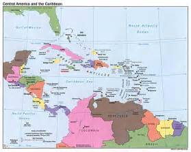 central american and caribbean islands map caribbean