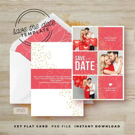 save the date card template wedding announcement template