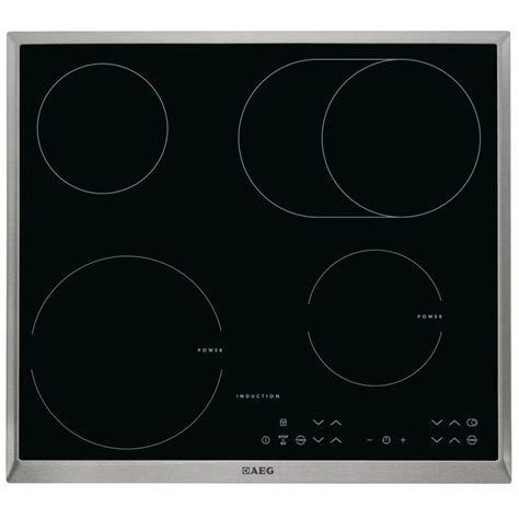glass ceramic induction aeg hk634150xb built in induction hob ceramic glass 4 cooking zones genuine new ebay