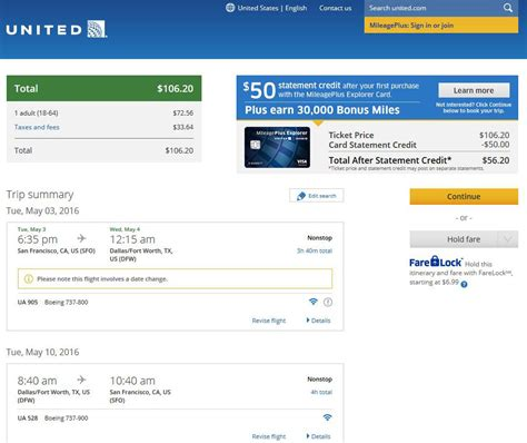 united airlines booking 107 dallas to from san francisco nonstop r t fly