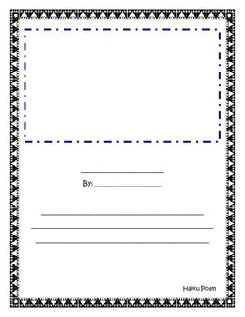 haiku writing template by fantabulous in fourth tpt