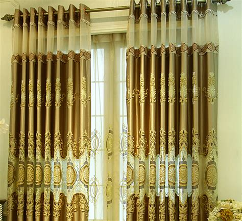 gold patterned curtains luxury embroidery patterned nice gold colored curtains