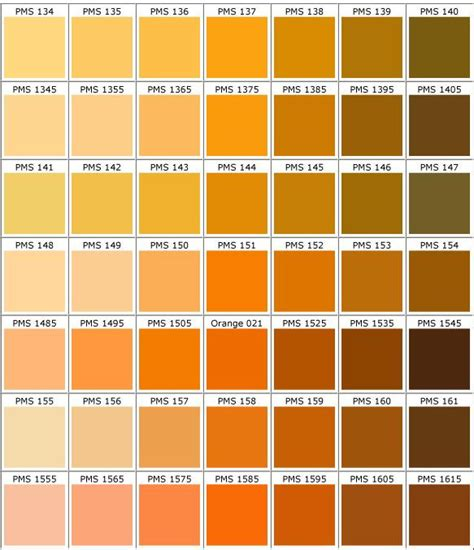 shades of orange color chart pantone orange pesquisa google color pinterest