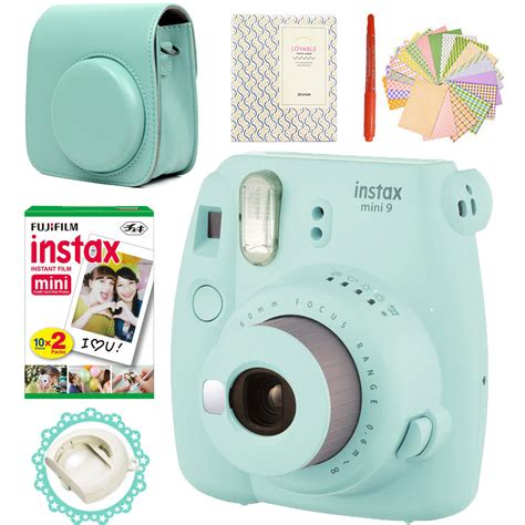 instant photos fujifilm instax mini 9 blue 20 photos