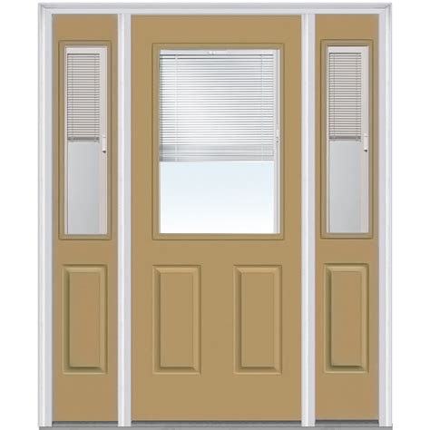 Exterior Door Blinds Doorbuild Mini Blinds Collection Steel Prehung Entry Door Sandal 36 Quot X80 Quot 1 2 Lite