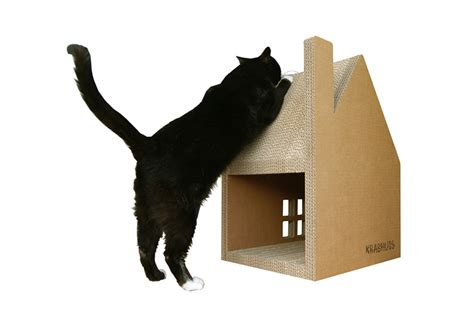 cardboard house for cats krabhuis a cardboard house for cats to scratch design milk