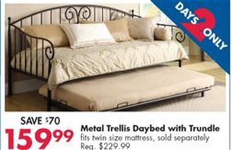 metal trellis daybed  trundle  big lots