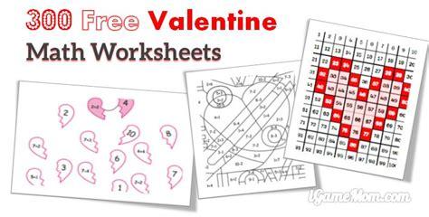 free printable valentine games for kindergarten 300 free valentine math worksheets for kids