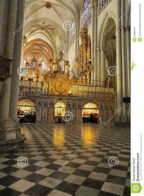imagenes catedrales goticas españa interior de la catedral de toledo imagen editorial