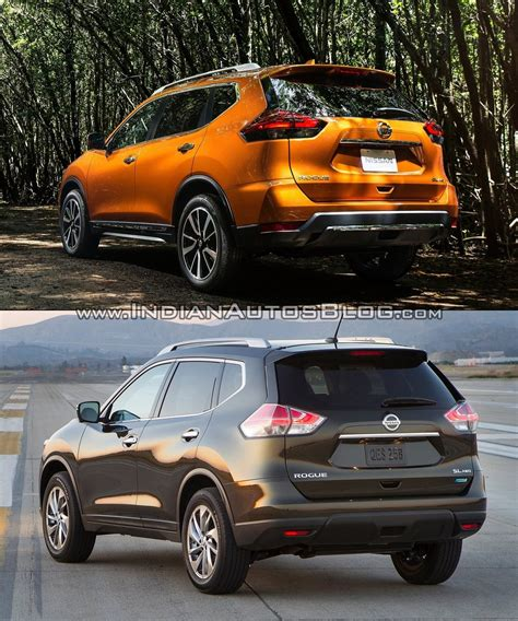 2016 Vs 2017 Rogue by 2017 Nissan Rogue Vs 2014 Nissan Rogue In Images