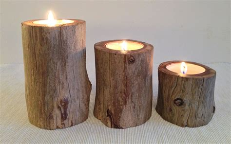 Pillar Tealight Candle Holders Yew Wood Pillar Tealight Candle Holder 3 Inwood