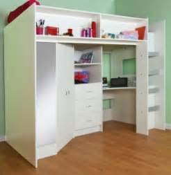 High Bed With Wardrobe And Desk by Childrens Desks With Drawers Foter
