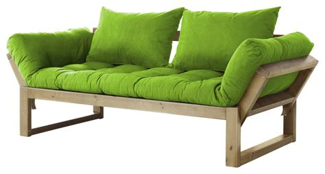 lime sofa bed edge convertible futon sofa bed natural frame lime