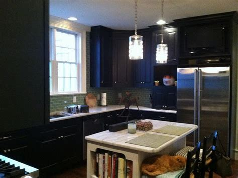 kitchen black cabinet combine refrigerators for small
