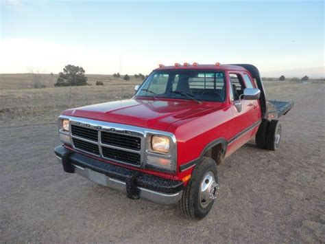 how to sell used cars 1993 dodge ram wagon b350 user handbook sell used 1993 dodge ram 3500 cummins 4x4 turbo diesel 5 speed extra cab in calhan colorado