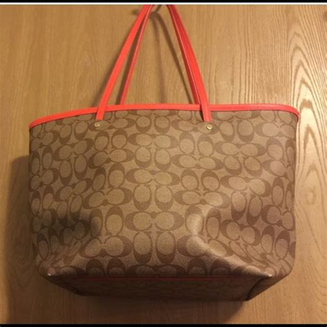 71 coach handbags coach orange khaki large
