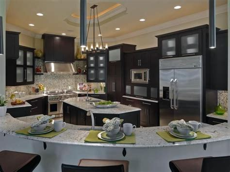 large family kitchen with mosaic tile and granite house