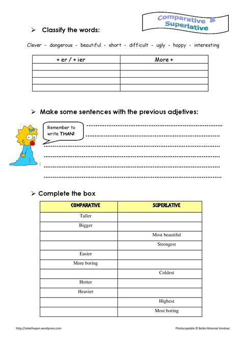 Adjectives That Compare Worksheets by Comparative Adjectives