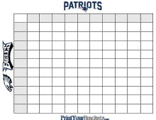 Bowl Betting Pool Template by Printable Bowl Squares 100 Square Grid Office Pool