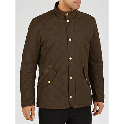 buy barbour waxed quilted funnel neck jacket lewis
