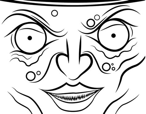 witch face coloring page coloringcrew com