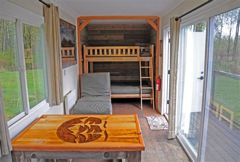 interior of shipping container homes tolt macdonald park shipping container cabin in carnation