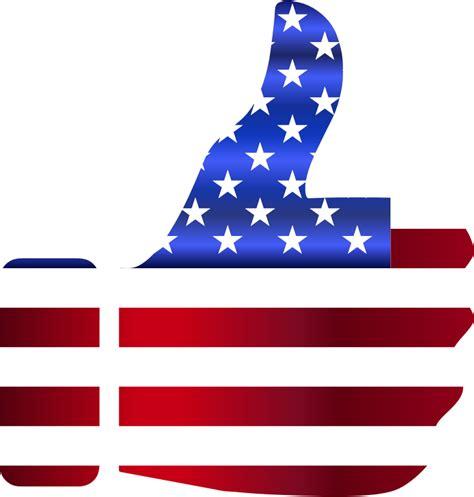 american flag clipart clipart thumbs up american flag enhanced