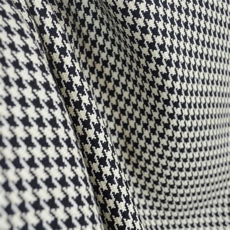 d2286 houndstooth black antique white fabric by the yard